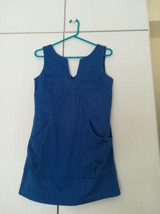 Vestido azul pavo