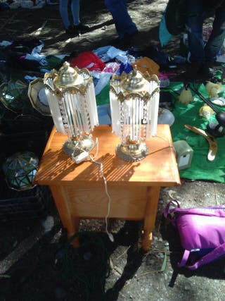 lampara cristal antigua