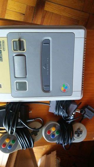 Consola Super Nintendo 2 mandos