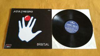 Disco vinilo Azul y Negro Digital