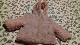 abrigo bebe niña de pelo