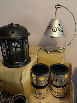 Lámpara velas decoración