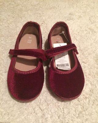 Zapatos burdeos terciopelo 26