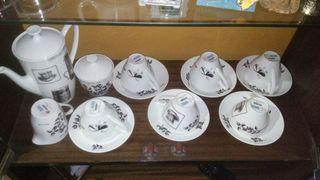 juego cafe con leche de porcelana (Pontesa)