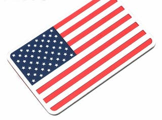 Bandera Americana pegatina metalica