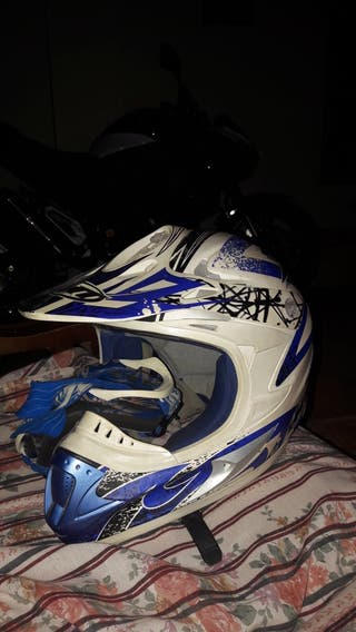Casco y gafas motocross MT