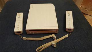 Videoconsola wii + dos mandos