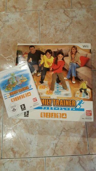 Videojuego family trainer para wii + alfombrilla