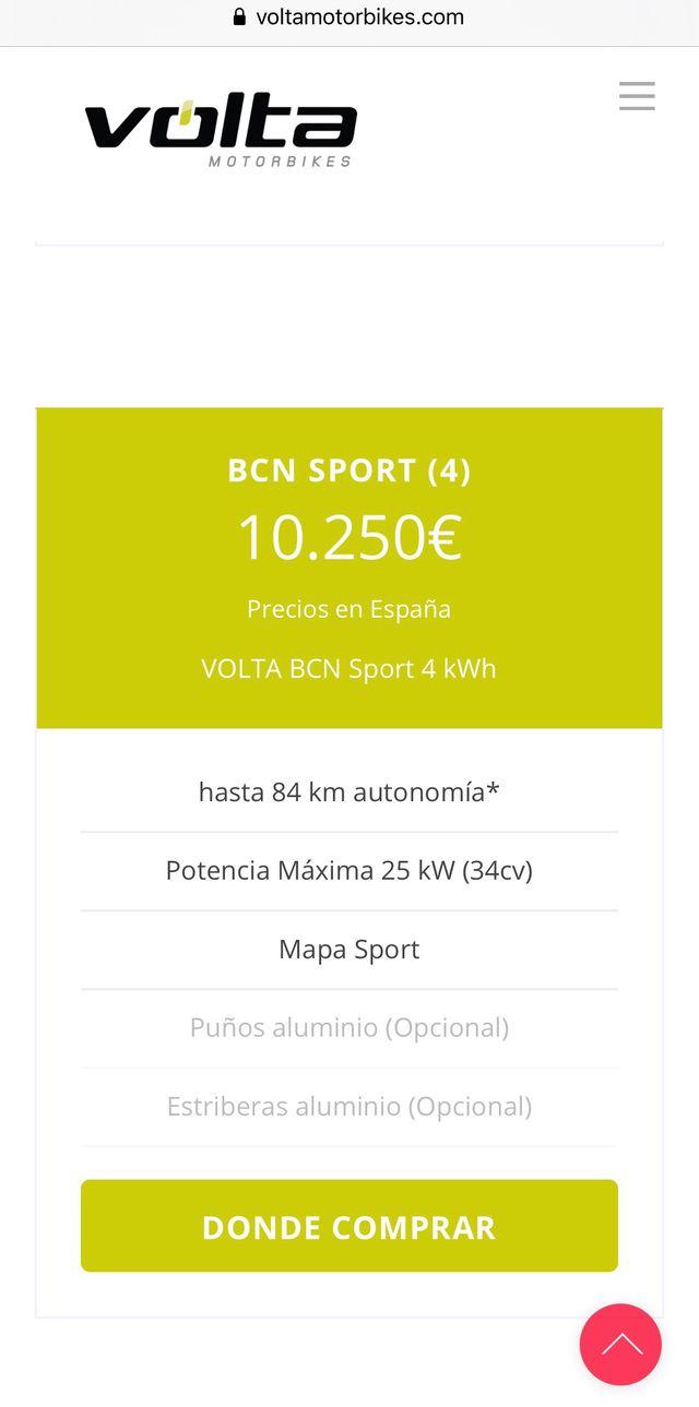 MOTO ELÉCTRICA VOLTA 4kwh A1