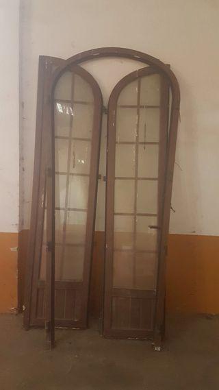 Puerta De PVC color madera De medio Punto