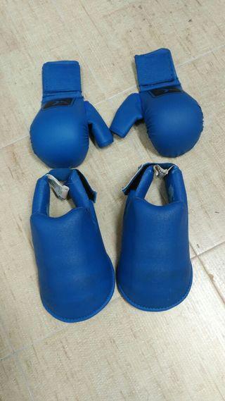 Guantes Taekwon-do protecciones para pies. Talla S
