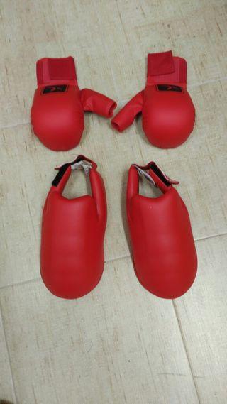 Guantes Taekwon-do protecciones para pies. Talla M