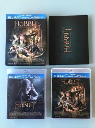 El hobbit 1 y 2 Blu Ray
