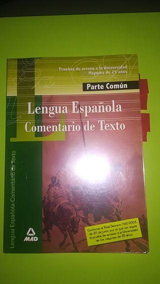lenguaje y comentario de texto acceso universidad