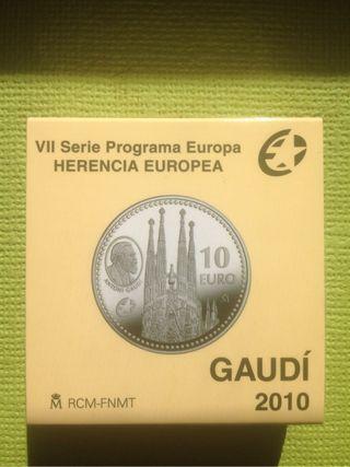 10 € plata 2010 GAUDI