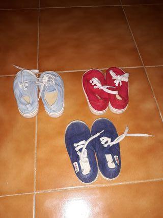 lote zapatillas niño talla 20