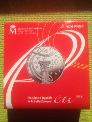 10 € plata presidencia 2010