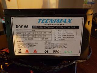 Fuente de alimentación atx Tecnimax 600w
