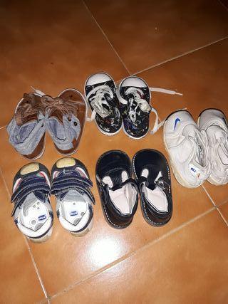 lote zapatos niño talla 21