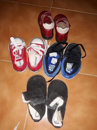 lote zapatos niño talla 22