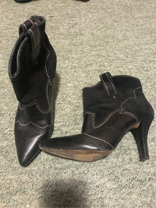 Mango real leather boots