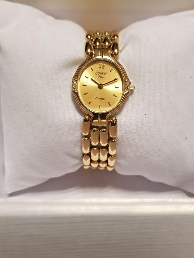 8240fb1db989 Reloj Duward King de señora de oro con diamantes de segunda mano por ...