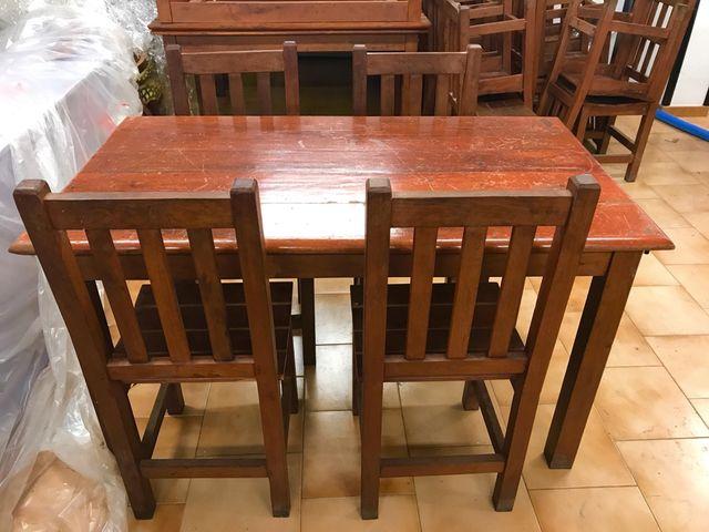 Sillas y mesas madera maciza de segunda mano por 20 en for Mesas y sillas de jardin segunda mano