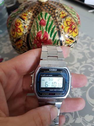 reloj casio chica color plata