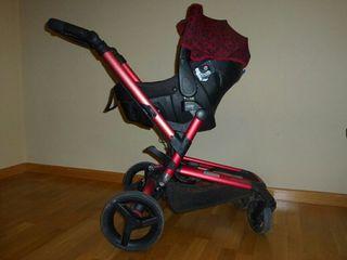 Carro bebé jané rider+strata+transporter