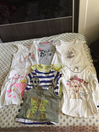 Lote de camisetas de niña