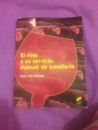 Libro El vino y su servicio. Manual sumillería.