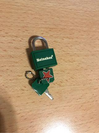 Candado nuevo Heineken para coleccionistas
