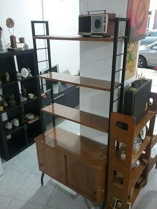 estanteria antigua vintage industrial por modulos