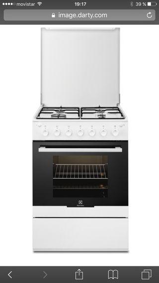 Cocina gas y horno electrolux