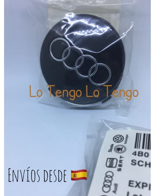 Set 4 Tapabujes Audi Negros o plata 60mm