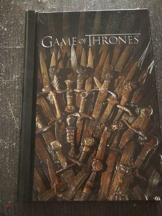 libreta apuntes game of thrones