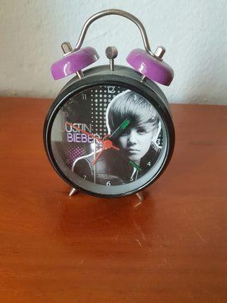 Reloj despertador Justin Bieber