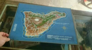 antiguo cartel de la isla de Tenerife