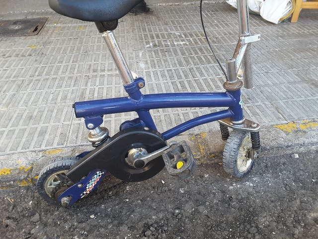 bicicleta juststart minibike