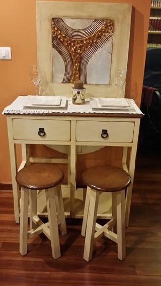 Mesa de cocina de segunda mano por 65 en agirre for Wallapop mesas