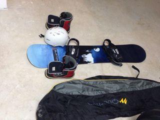 Tabla de Snow , Casco, Botas y funda