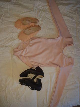 mayor,zapatillas de ballet y zapato para flamenco