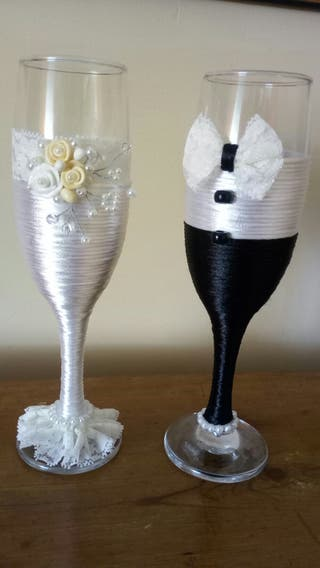 copas decoradas para banquetes