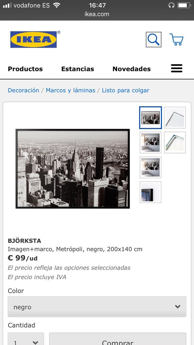 Poster Cuadro Manhattan Ikea second hand for 50 € in Badhoevedorp ...