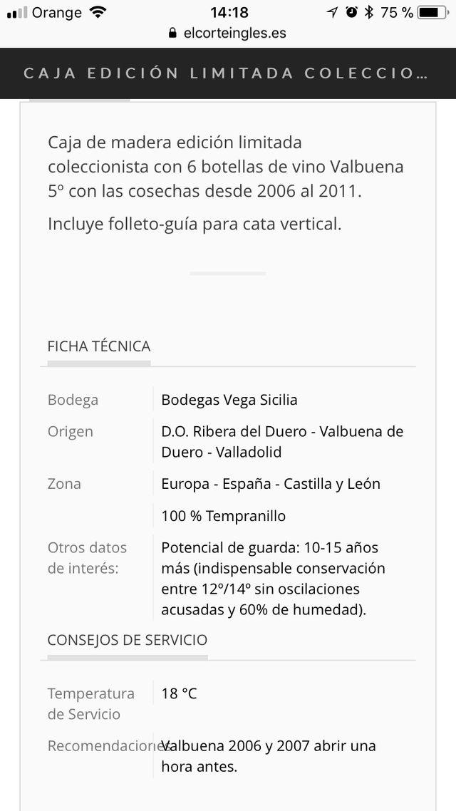 Vino Vega Silicia Ed especial