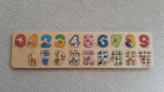 Juego mesa tabla de numeros