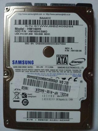 Disco duro 160 Gb 2,5''