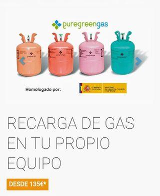 Recarga gas y ahorra 60%, aire acondicionado