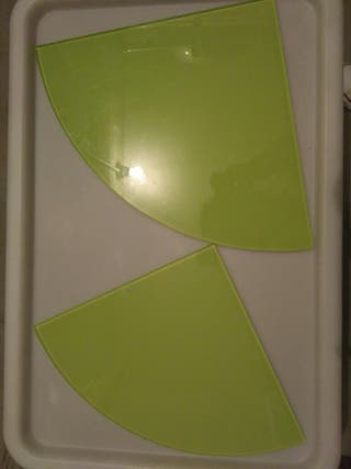 baldas de cristal verdes