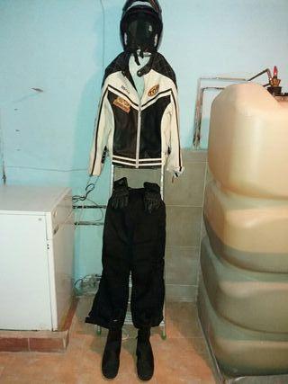 traje completo moto
